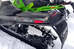 The Ski-Doo Summit SP, with its micro-channel cooling system in the tunnel, thaws and freezes snow which in turns adds weight to the mountain snowmobile as the day wears on.
