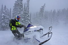 Our guide for the day, Troy Johnson of Lincoln County Customs of Alpine, WY, ensured that we had plenty of untracked snow for our evaluation.