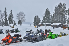 Crowded-Snowmobile-Parking-Lot