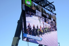 Two jumbotrons ensured race fans who lined the course had a close up view.