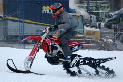 Snowbike racing is gaining in popularity, and here Jackson Hole Snocross National, participation was high.