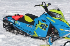 Loud in color, the XM-RS Freestyle is a freestylists dream mountain hucker. We like this snowmobile. But, it is time to give it 850 power, Gen-4 underpinnings and a factory-installed lower handlebar post.