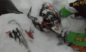 Snowmobiler caught in avalanche