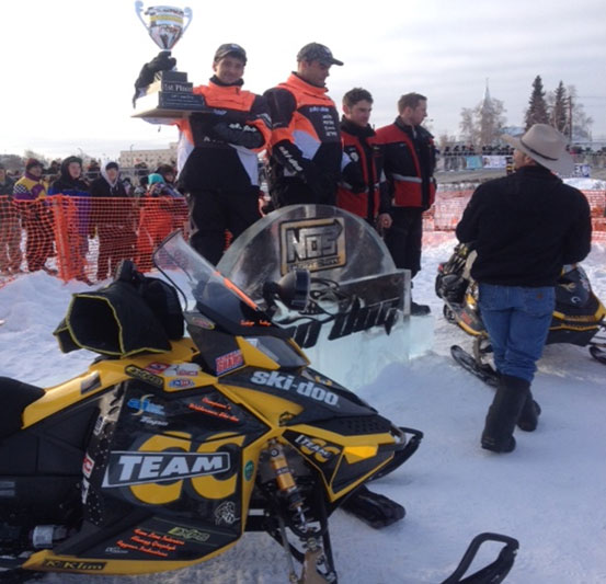 ski doo racers van meter and mckenna win alaska iron dog. Black Bedroom Furniture Sets. Home Design Ideas