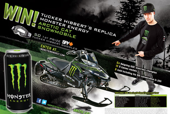 Tucker Hibbert Arctic Cat Snowmobile Contest