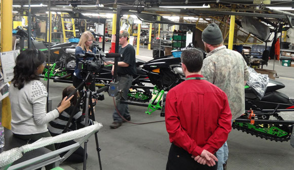 Today Show Visits Arctic Cat Factory