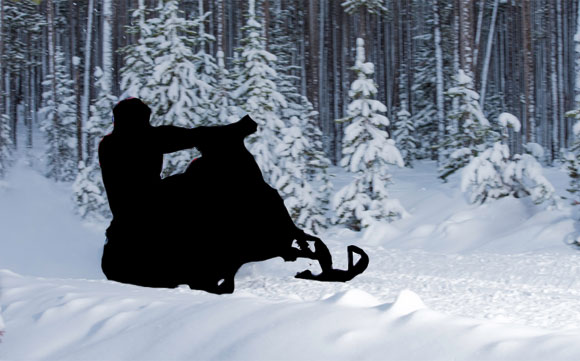Canadian Stealth Snowmobile