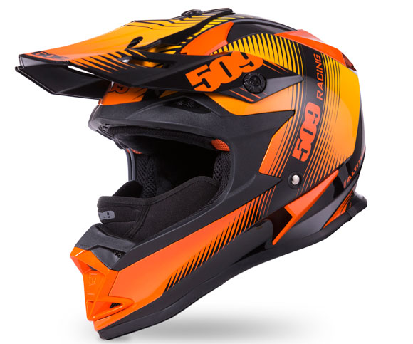 509 Altitude Helmet Black Fire with Breath Box