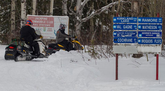 Ontario Snowmobile Trail Signage