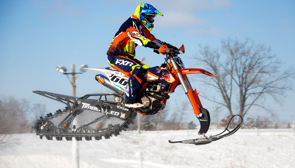 Timbersleds Shine At The Qualifier Snow Bikecross Race