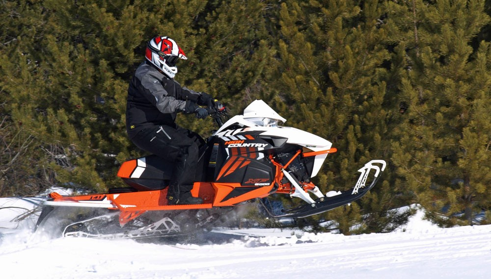 2017 Arctic Cat XF High Country Skis Up