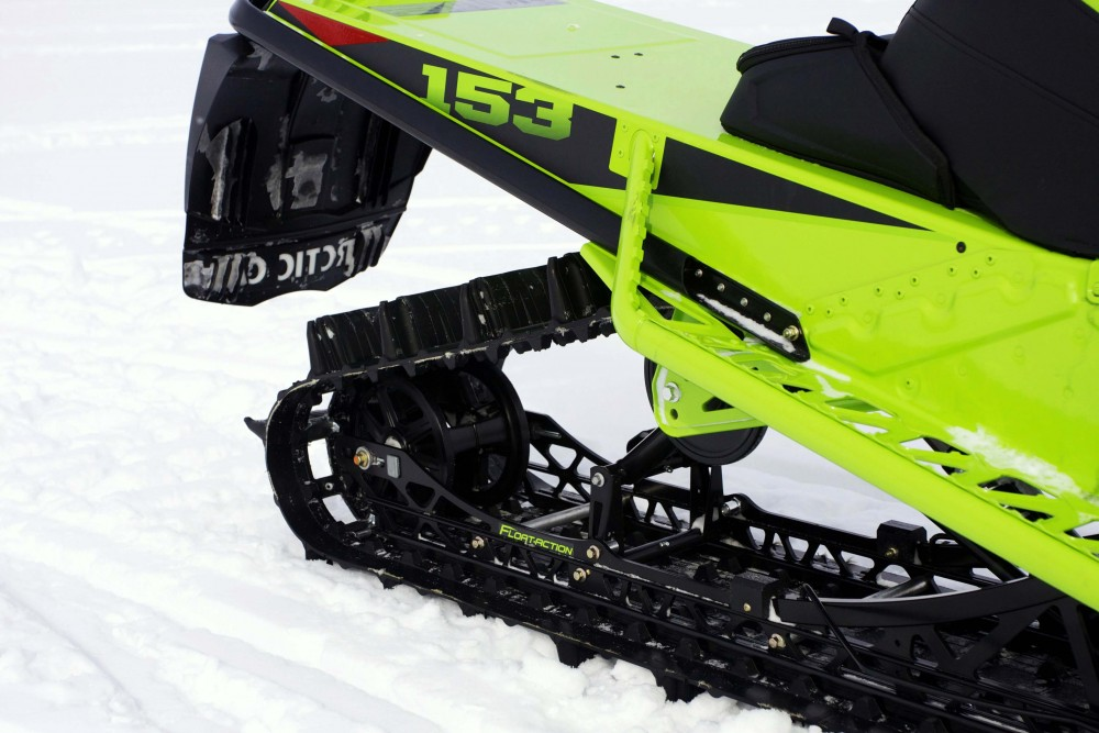The Float-Action rear suspension and Power Claw track with three-inch paddles give the Mountain Cat the lift and float steep-and-deep riders desire when taking on the boondocks.