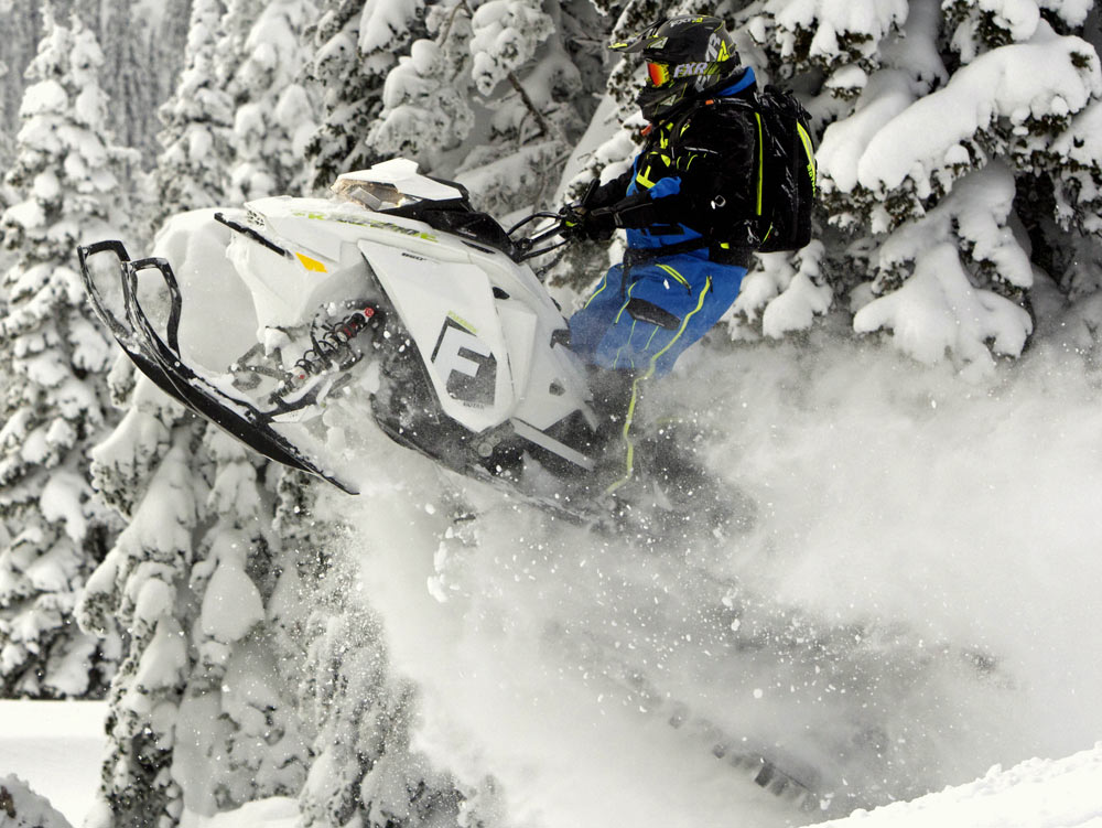 Freeride Snow Mobile : Ski doo freeride and review video