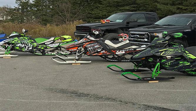 Custom sleds were everywhere