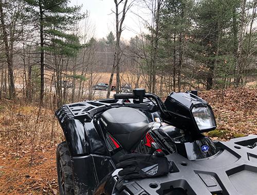 Snowmobile Trail Cutting