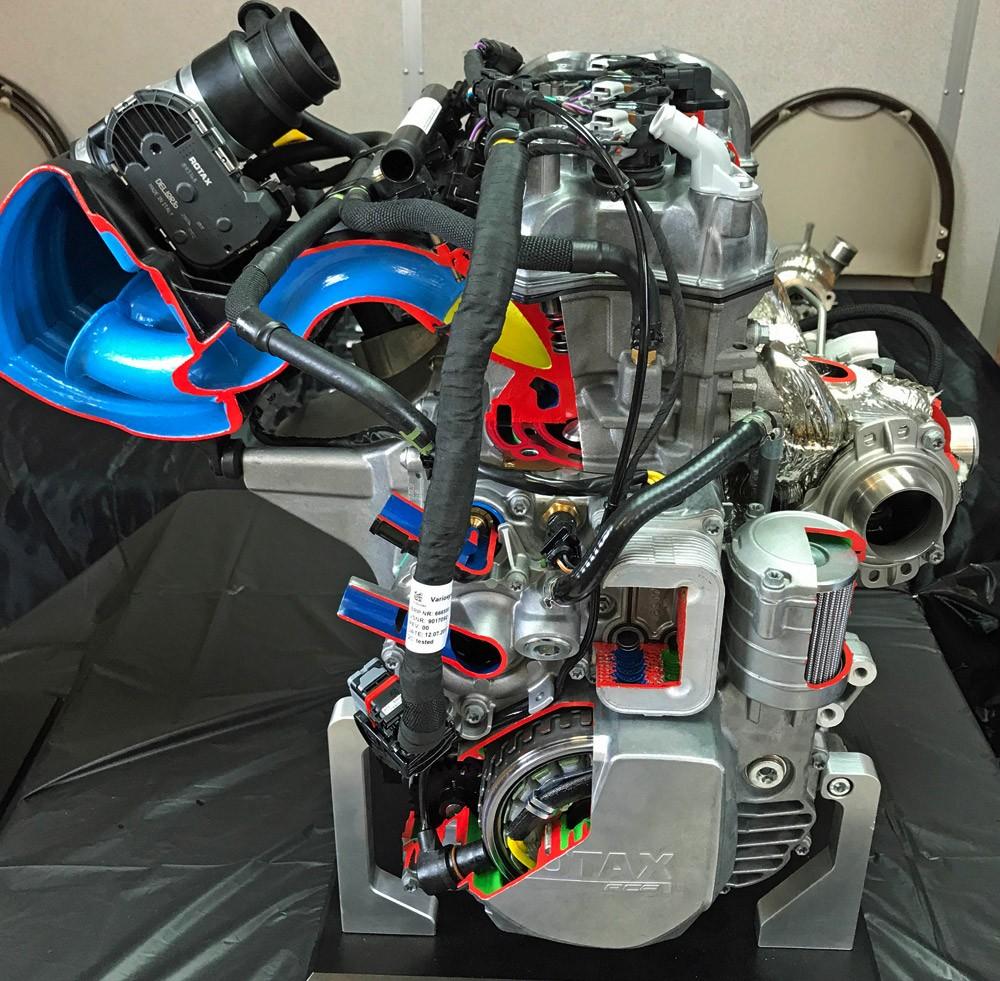 Rotax 900 ACE Turbo Cutaway Side