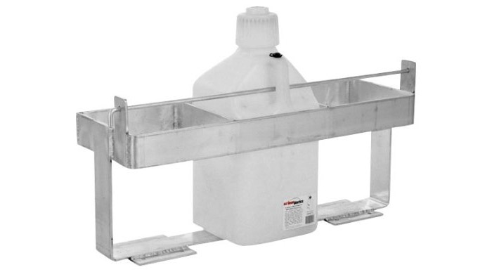 Snowmobile Trailer Fuel Can Rack