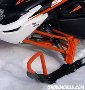 Arctic Cat's 2009 F1000 Sno Pro comes standard with premium Fox shocks.