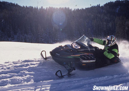 With 172 horses the Thundercat powered its way through deep snow.