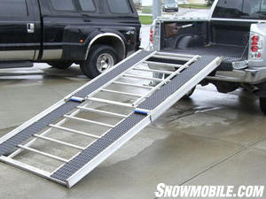 Mounted on a ramp, Super-Glides traction makes walking up or down safer.