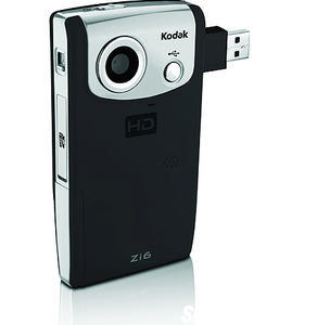 The lightweight Kodak Zi6 can be fitted with a high-speed, high-capacity memory card for rapid-fire picture taking and capturing TV-quality video. (Image Courtesy Kodak)