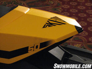 The 50th anniversary edition in Ski-Doo yellow is the new upbeat 'in' color according to the Pantone Color Institute.