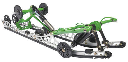 Arctic Cat's 2009 M-Series models dropped weight partly due to new suspension design.