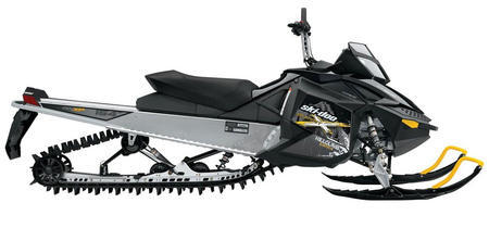 Latest Ski-Doo powder suspension has been lightened but retains springs to assist shock travel.
