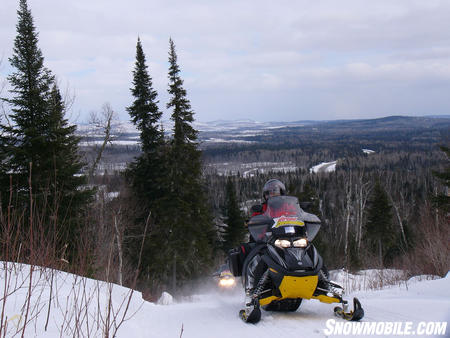 Riding hilly trails in Ontario�s Algoma Country.