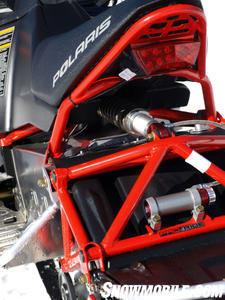 Pro-Ride�s underseat shock location invites suspension tweaking.