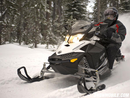 Solo touring engine choices include a 600 E-TEC or the 1200cc 4-stroke triple.