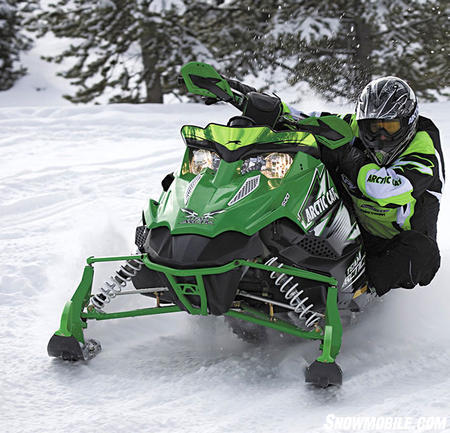 New for 2010, the Sno Pro 500 can race one day and trail ride the next.