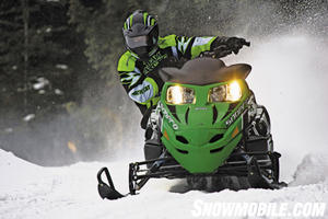 Look for refined ride and handling from Arctic Cat�s Twin Spar equipped �F� models.