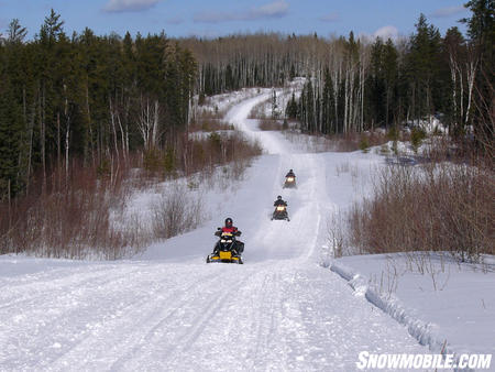 Snowmobile paradise!