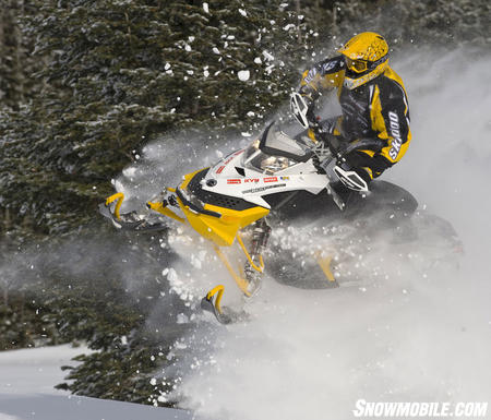 Ski-Doo�s X-RS is all about grabbing rude air!