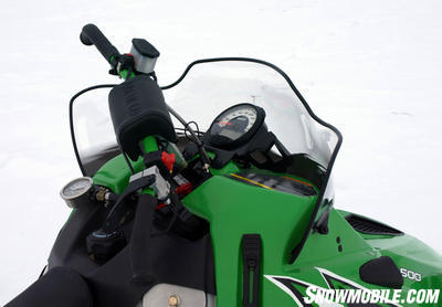Note added �engineering� gear on the Sno Pro 500 prototype.