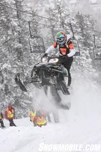 Les Keller catches air on his Improved Arctic Cat M 1000. Keller went on to win the Improved King Title.