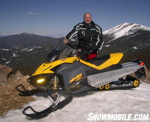Ski-Doo�s REV pioneered the ride-forward concept.