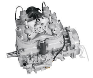 The M8 H.O. motor's crankshaft is 4.3-pounds lighter than the previous year's 800.