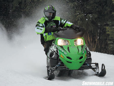 This sled grabs the corners for sporty handling.