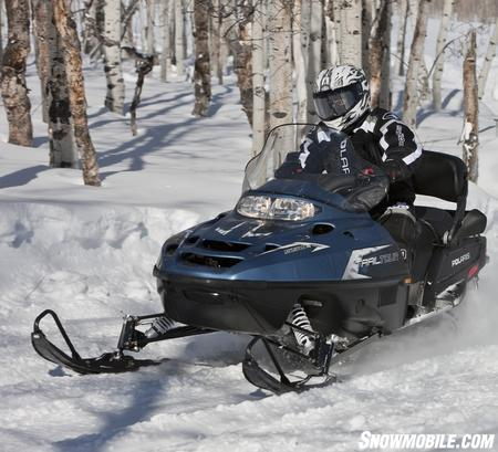 The Indy chassis Trail Touring is a value-laden snowmobile.