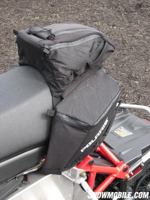 With some adaptations like this set of soft-side bags, the Rush can be a long distance touring sled.