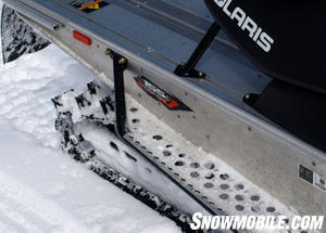 The RMK floorboard helps evacuate snow for strong running in powder.