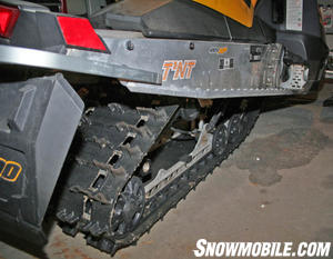 The installed Cobra provides very aggressive performance and also looks very aggressive on the sled.