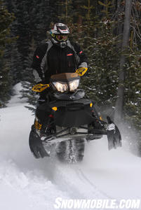 "Ski-Doo's ""Spring Only"" Renegade Backcountry X is available in any color you want as long as it's black."