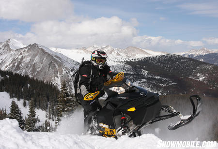 The Renegade Backcountry X does a great job combining mountain and trail specifics into one sled.