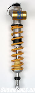 This Ohlins electronic shock conrolled remotely.