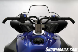 Note the nifty curvature in the Yamaha handlebar set.
