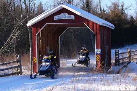 A covered bridge in Eastern Ontario.