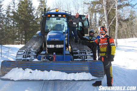 One of Ontario's many trail groomers.